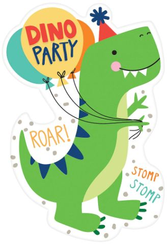 Dino-Mite Postcard Invitation, 8ct