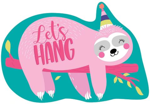 Sloth Postcard Invitations, 8ct