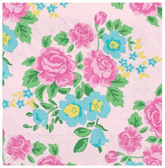 Tea Party Beverage Napkins, 16ct
