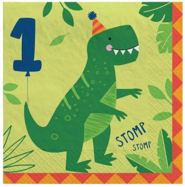 Dino-Mite Luncheon Napkins -1st Birthday