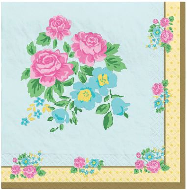 Tea Party Luncheon Napkins, 16ct