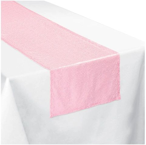 Pretty Pastels Sequin Fabric Table Runner