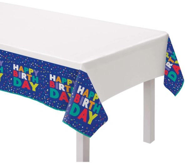 Bold Happy Birthday Plastic Table Cover