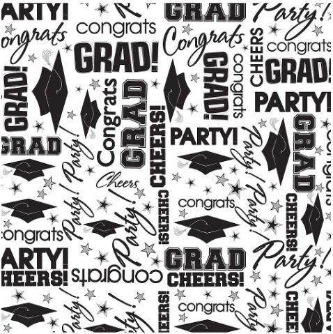 Grad Tissue Paper Black & White