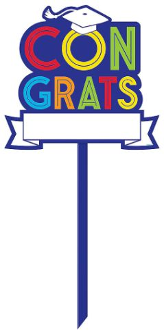 Grad Personalized Yard Sign- Multicolor