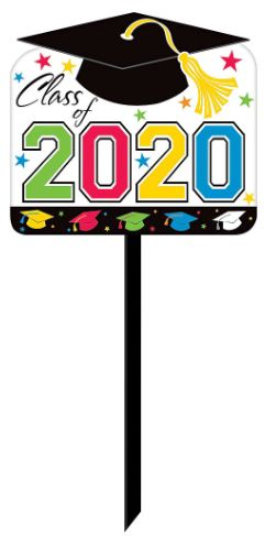 2020 Grad Yard Sign-Multicolor