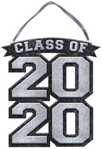 Class of 2020 Sign - Silver