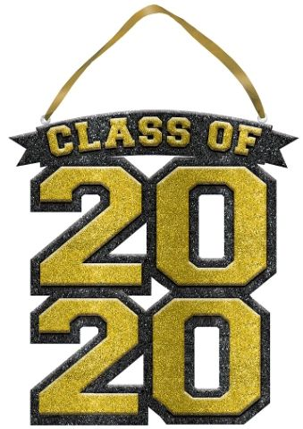 Class of 2020 Sign - Gold