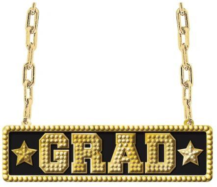 Graduation Bling Necklace, 36""