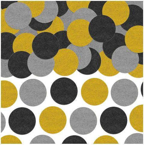 Tissue Paper Confetti - Black, Silver, Gold, 0.8oz