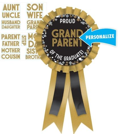 Personalizable Graduation Award Ribbon
