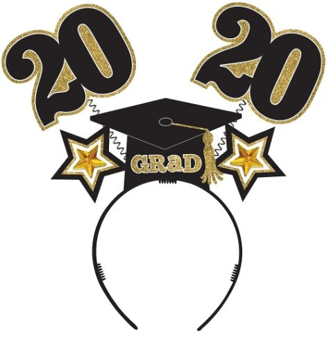 """2020"" Grad Glitter Head Bopper"