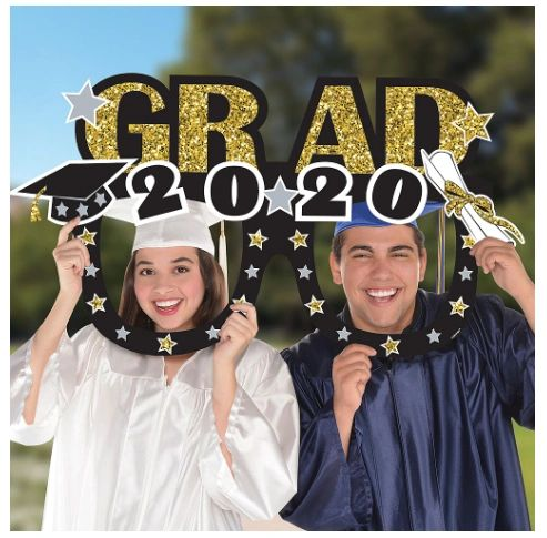 "Grad 2020 Eyeglasses Jumbo Photo Prop, 39"""