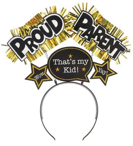 Proud Parent Glitter Head Bopper