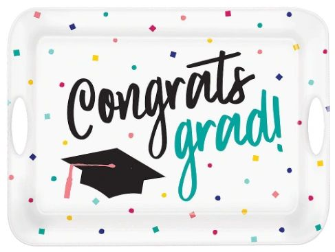 Congrats Grad Large Melamine Serving Tray