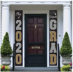 """2020"" Grad Hanging Flags, 2pc"