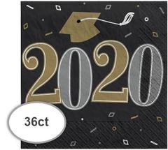 """2020"" Well Done Grad Beverage Napkins, 36ct"