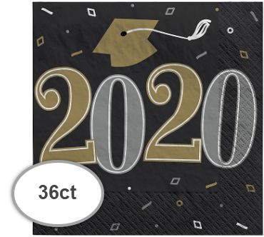 """2020"" Well Done Grad Beverage Napkins, 36ct"