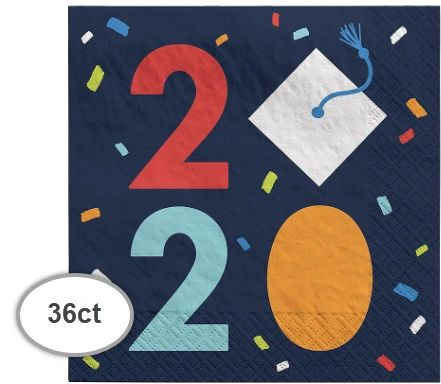 Navy Class of Awesome 2020 Luncheon Napkins, 36ct