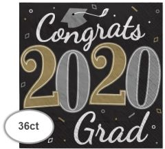 """""""2020"""" Well Done Grad Luncheon Napkins, 36ct"""