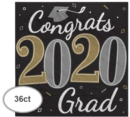 """2020"" Well Done Grad Luncheon Napkins, 36ct"