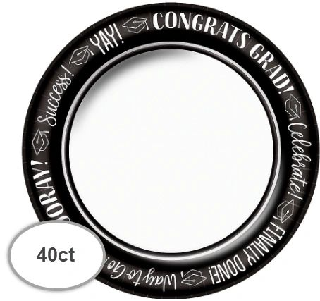 "Celebrate Success Round Plates, 8 1/2"" - 40ct"