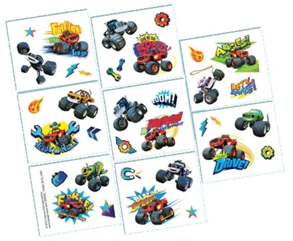 Blaze and The Monster Machines Tattoos, 8ct