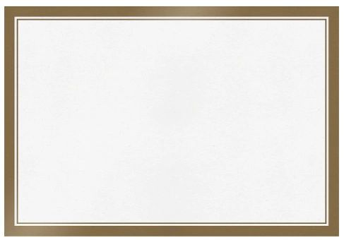 Paper Placemats - White w/Gold Trim, 24ct