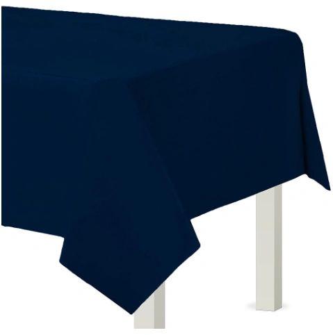 "True Navy Plastic Table Cover, 54"" X 108"""
