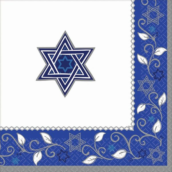 Joyous Holiday Passover Dinner Napkins, 16ct