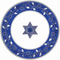 "Joyous Holiday Passover Desert Plates, 7"" - 8ct"