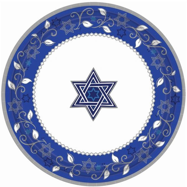 "Joyous Holiday Passover Dinner Plates, 10 1/2"" - 8ct"
