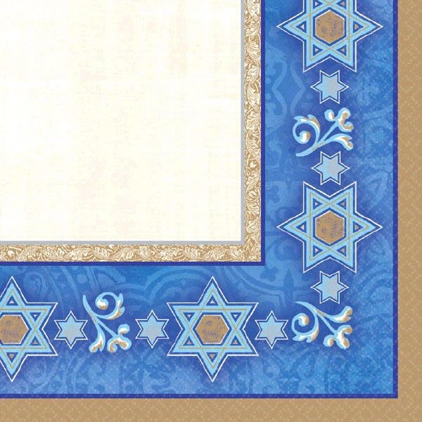 Hanukkah Judaic Traditions Passover Beverage Napkins, 16ct