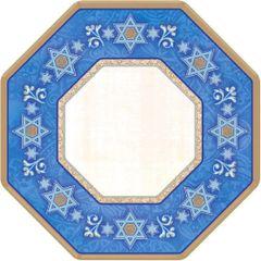 "Hanukkah Judaic Traditions Octagon Paper Plates, 7"" - 8ct"