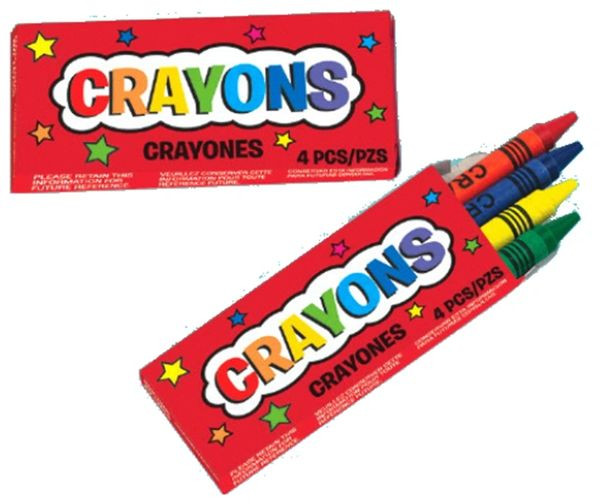 Mini Crayon Favors, 12ct