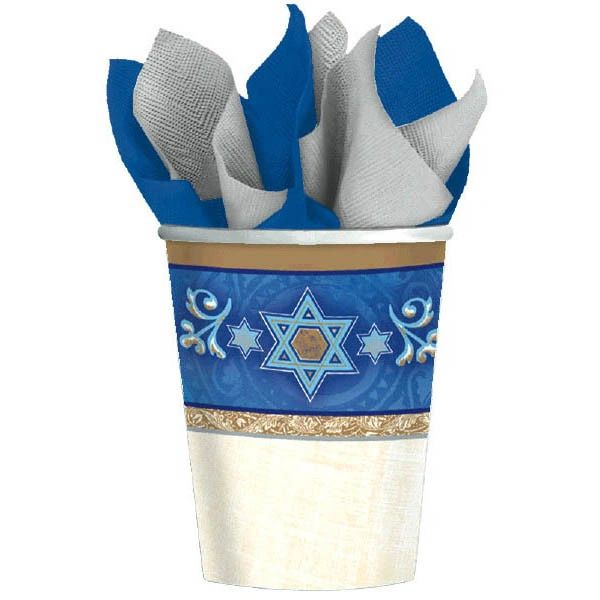 Hanukkah Judaic Traditions Passover Cups, 9 oz - 8ct
