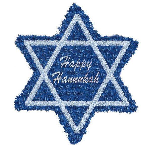 Deluxe Happy Hanukkah Tinsel Star of David