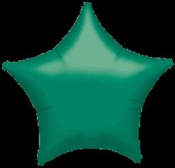 Star 13 Metallic Green Mylar Balloon 18in