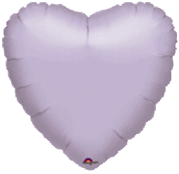 Heart 27 Pearl Lilac Mylar Balloon 18in