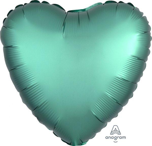 Satin Luxe 16 Jade Heart Mylar Balloon 18in