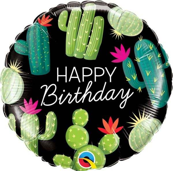 "18"" Cactus Happy Birthday Balloon"