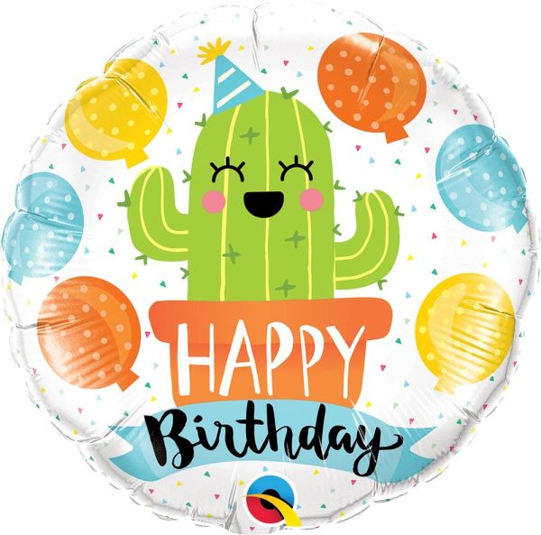 "18"" Party Cactus Birthday Balloon"