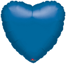 Heart 23 Metallic Blue Mylar Balloon 18""
