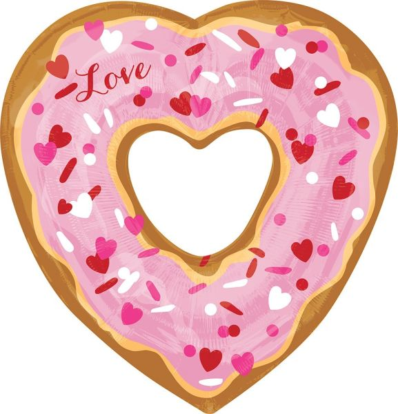 "26"" Open Heart Donut Balloon"