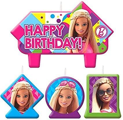 Barbie Sparkle Candles
