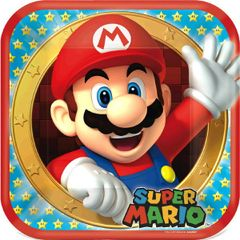 """Super Mario Brothers™ Lunch Plates, 9"""" - 8ct"""