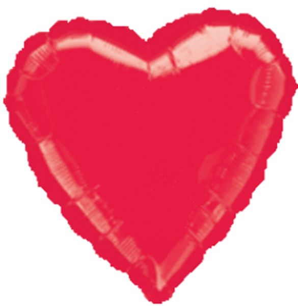 Heart 41 Red Mylar Balloon 18in