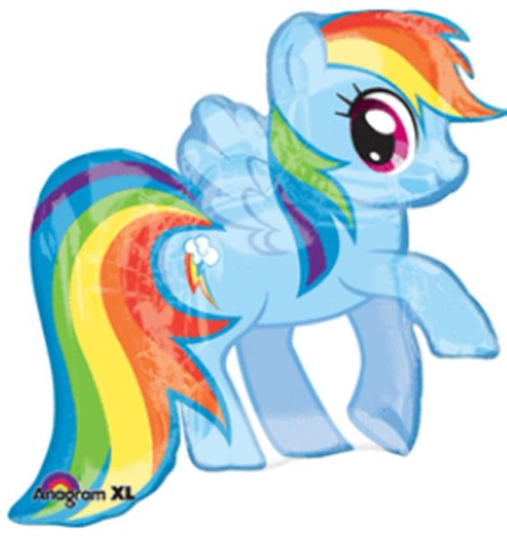 "28"" My Little Pony Rainbow Dash Balloon"