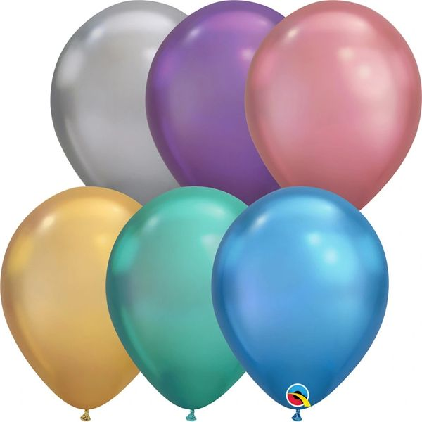 "01F Chrome, 11"" Qualatex Latex 