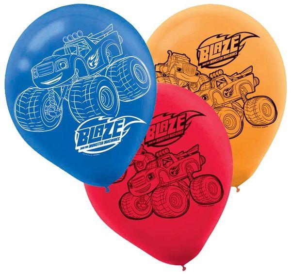 Blaze Printed Latex Balloons, 6ct